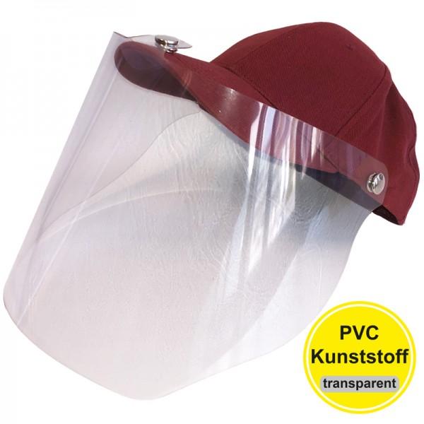 PVC-Visier Basecap - burgundy