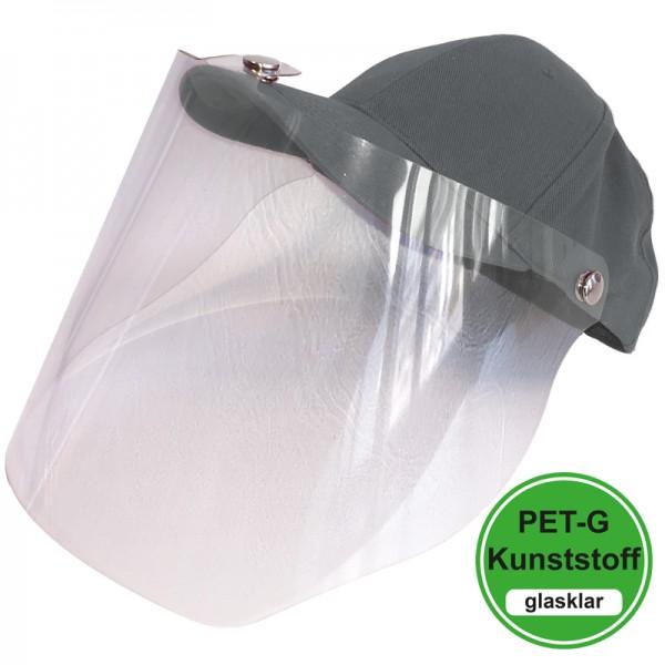 PET-G-Visier Basecap - dark grey