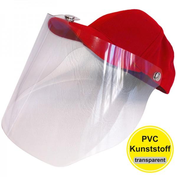 PVC-Visier Basecap - red