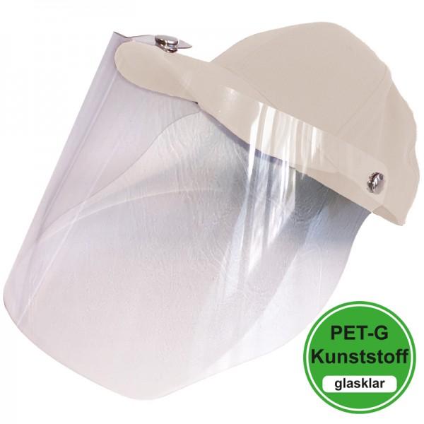 PET-G-Visier Basecap - white