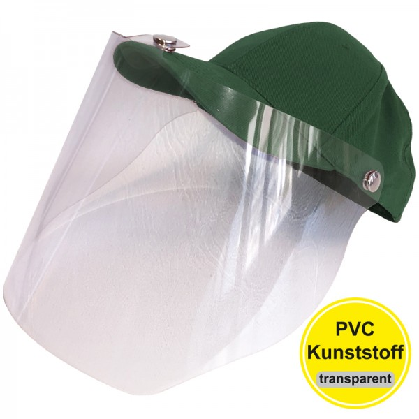 PVC-Visier Basecap - dark green
