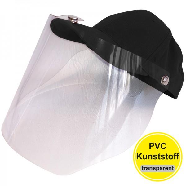 PVC-Visier Basecap - black