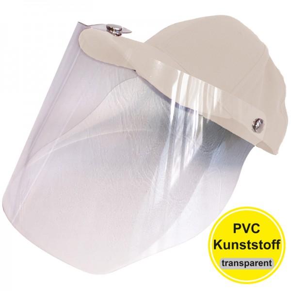 PVC-Visier Basecap - white